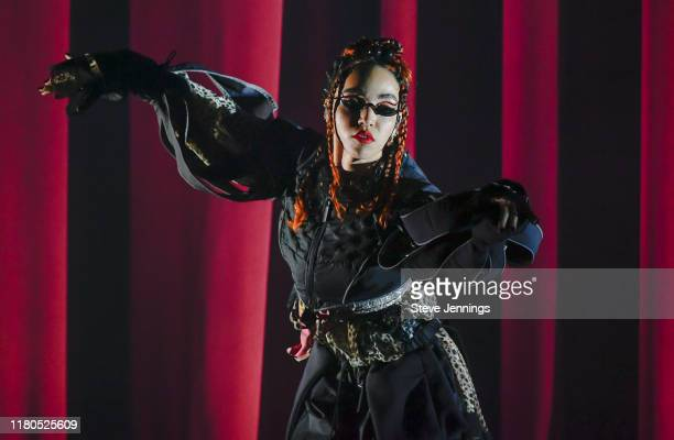 Singer FKA Twigs performs at The Fox Theater on November 6 2019 in Oakland California