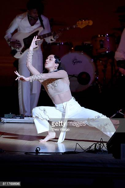 Singer FKA twigs performs onstage at the 26th Annual Tibet House US benefit concert at Carnegie Hall on February 22 2016 in New York City