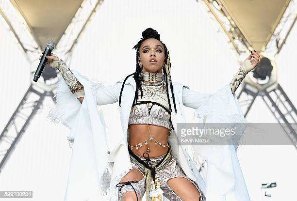 Singer FKA Twigs performs onstage during the 2016 Budweiser Made in America Festival at Benjamin Franklin Parkway on September 4 2016 in Philadelphia...