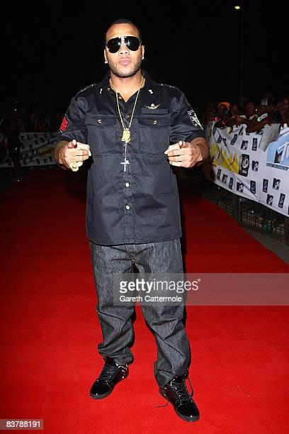 Singer Flo Rida arrives for the MTV Africa Music Awards 2008 at the Abuja Velodrome on November 22, 2008 in Abuja, Nigeria.