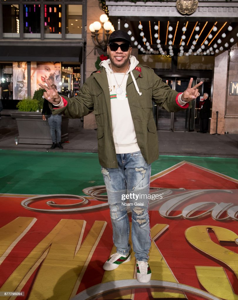 Singer Flo Rida attends the rehearsals for the 91st Annual Macy's Thanksgiving Day Parade on November 21, 2017 in New York City.