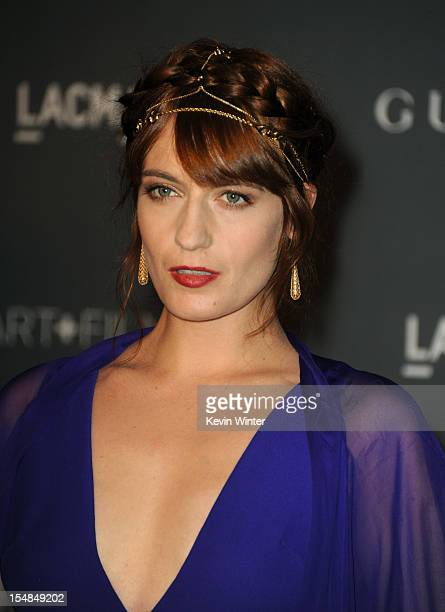 Singer Florence Welch arrives at LACMA 2012 Art Film Gala at LACMA on October 27 2012 in Los Angeles California