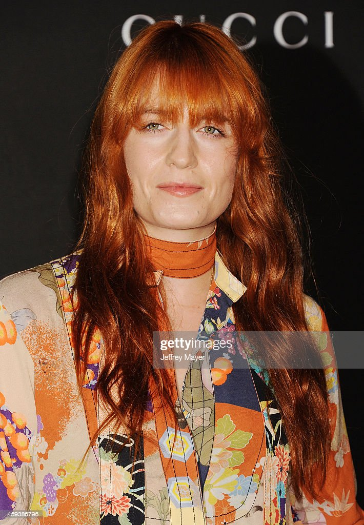 Singer Florence Welch attends the 2014 LACMA Art + Film Gala honoring Barbara Kruger and Quentin Tarantino presented by Gucci at LACMA on November 1, 2014 in Los Angeles, California.