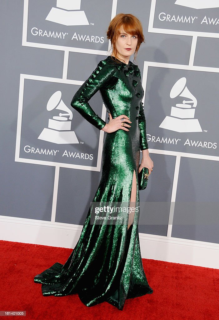 Singer Florence Welch attends the 55th Annual GRAMMY Awards at STAPLES Center on February 10, 2013 in Los Angeles, California.