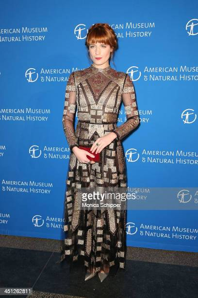 Singer Florence Welch attends the American Museum Of Natural History's 2013 Museum Gala at American Museum of Natural History on November 21, 2013 in...