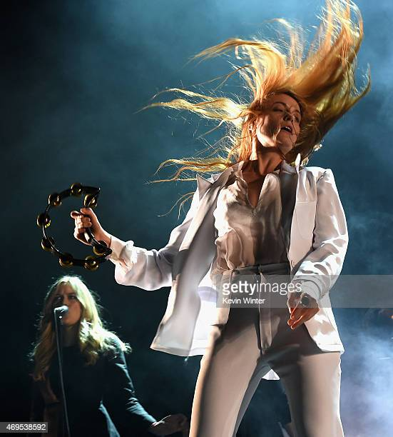 Singer Florence Welch of Florence and the Machine performs onstage during day 3 of the 2015 Coachella Valley Music Arts Festival at the Empire Polo...