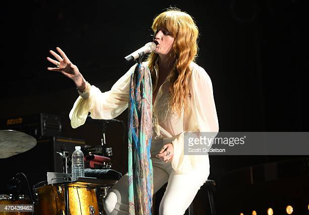 Singer Florence Welch of Florence and the Machine performs onstage during day 2 of the Coachella Music festival at The Empire Polo Club on April 19...