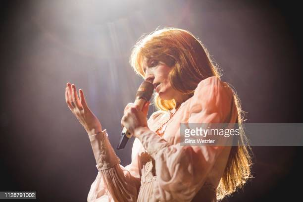 Singer Florence Welch of the english band Florance and the Machine performs live on stage during a concert at Lanxess Arena on March 5, 2019 in...