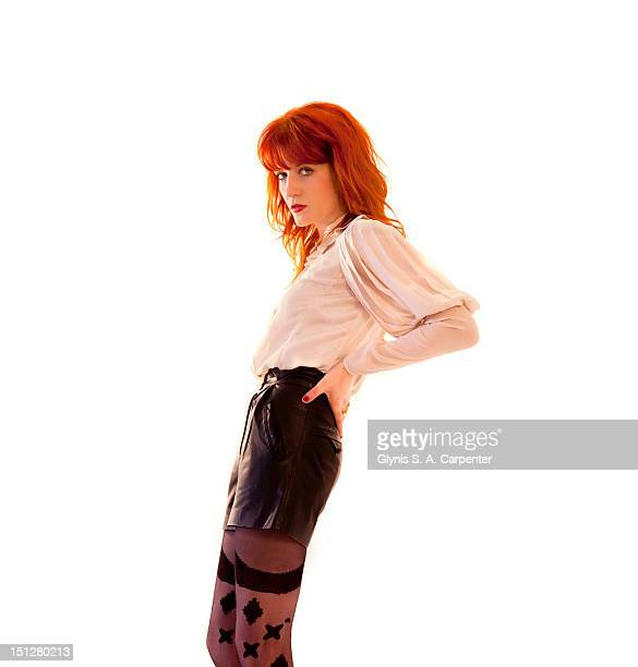 Singer Florence Welch poses for Bust Magazine on April 1 2010 in New York City COVER IMAGE