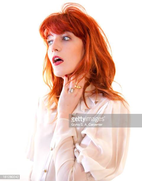 Singer Florence Welch poses for Bust Magazine on April 1 2010 in New York City