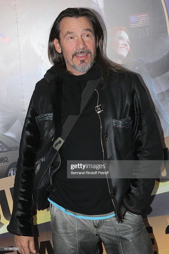 Singer Florent Pagny attends the Paris Premiere of the movie 'Mais Qui A Re Tue Pamela Rose', at Cinema Gaumont Marignan on December 2, 2012 in Paris, France.