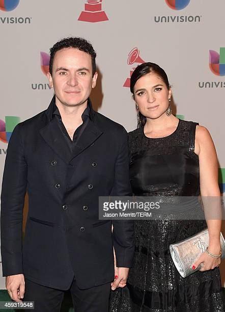 Singer Fonseca and his wife Juliana Posada attend the 15th Annual Latin GRAMMY Awards at the MGM Grand Garden Arena on November 20 2014 in Las Vegas...