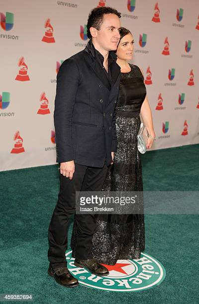 Singer Fonseca and Juliana Posada attend the 15th annual Latin GRAMMY Awards at the MGM Grand Garden Arena on November 20 2014 in Las Vegas Nevada