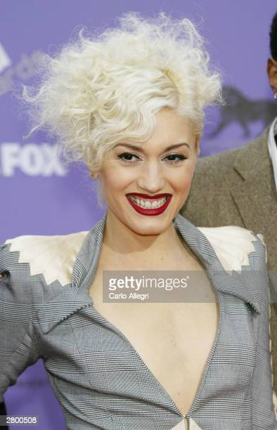 Singer for the band No Doubt Gwen Stefani attends the 2003 Billboard Music Awards at the MGM Grand Garden Arena December 10 2003 in Las Vegas Nevada...