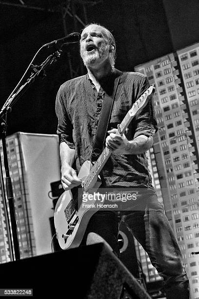 Singer Fran Healy of the British band Travis performs live during a concert at the Huxleys on May 23 2016 in Berlin Germany