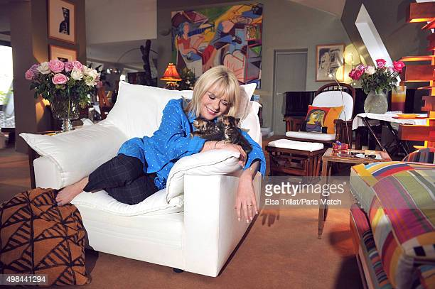 Singer France Gall is photographed for Paris Match on October 16 2015 in Paris France