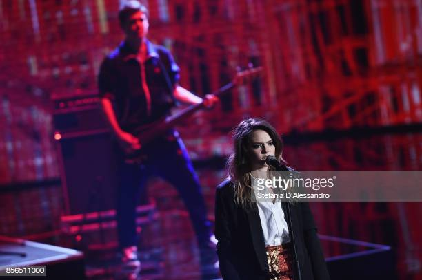 Singer Francesca Michielin performs live at 'Che Tempo Che Fa' TV Show on October 1 2017 in Milan Italy
