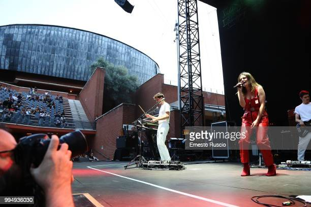Singer Francesca Michielin performs on stage at Auditorium Parco Della Musica on July 9 2018 in Rome Italy
