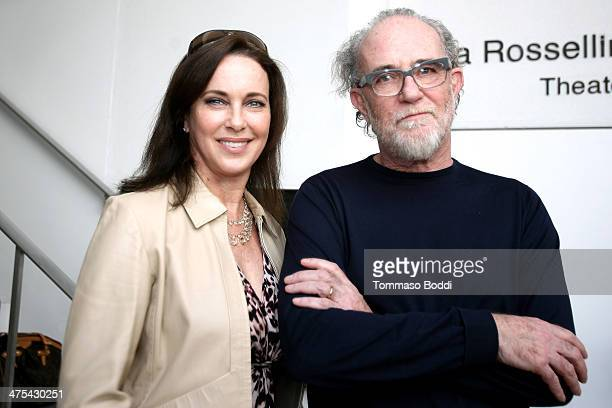Singer Francesco De Gregori and actress Clarissa Burt attend the Italian Cultural Institute of Los Angeles hosts 'The Great Beauty Rhymes And...