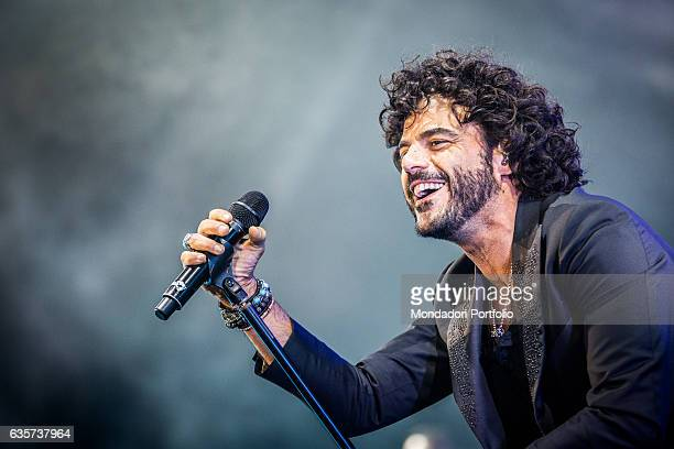 Singer Francesco Renga in concert at Mediolanum Forum of Assago Assago Italy 15th October 2016
