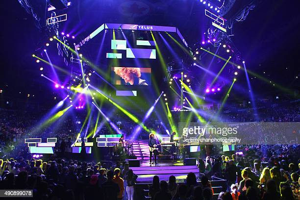 Singer Francesco Yates performs during WE Day Toronto at the Air Canada Centre on October 1 2015 in Toronto Canada