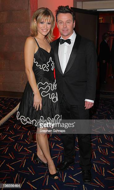 Singer Francine Jordi and boyfriend Florian Ast attend the aftershow party at the 'MercureHotel' after the award ceremony 'Krone der Volksmusik' on...