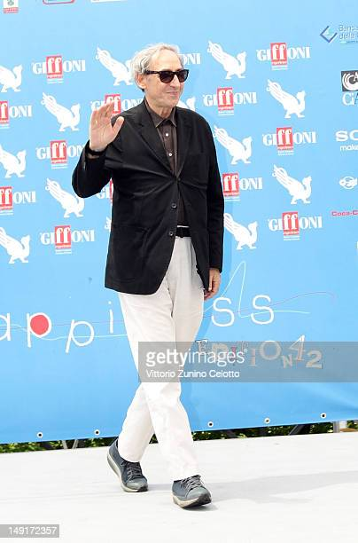 Singer Franco Battiato attends 2012 Giffoni Film Festival photocall on July 24 2012 in Giffoni Valle Piana Italy