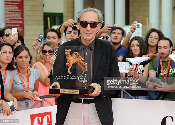 Singer Franco Battiato attends 2012 Giffoni Film Festival Red Carpet on July 24 2012 in Giffoni Valle Piana Italy