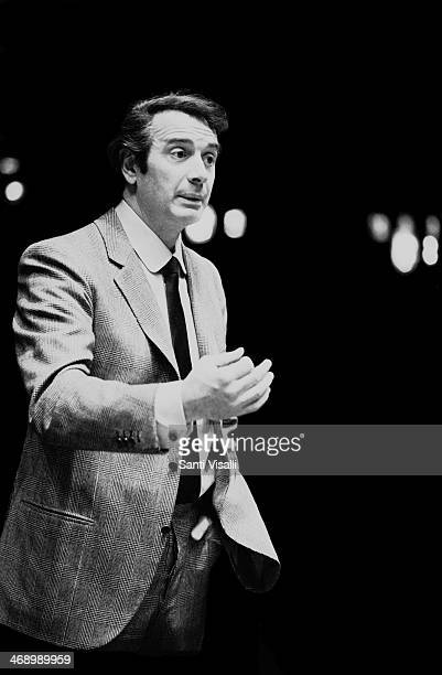 Singer Franco Corelli during rehearsal on December 10, 1970 in New York, New York.
