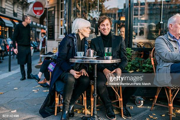 Singer Francoise Hardy and Thomas Dutronc are photographed for Paris Match on November 1, 2016 in Paris, France.