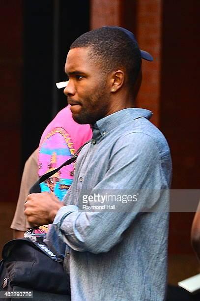 Singer Frank Ocean is seen walking in Soho on July 29 2015 in New York City