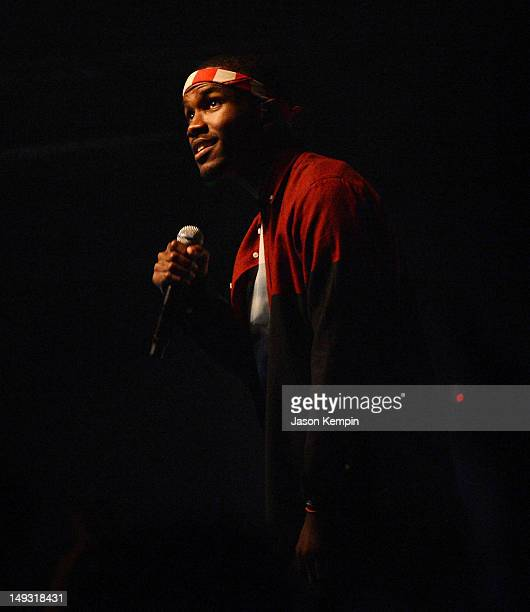 Singer Frank Ocean performs at Terminal 5 on July 26 2012 in New York City