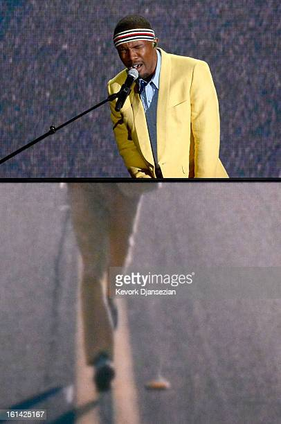 Singer Frank Ocean performs onstage at the 55th Annual GRAMMY Awards at Staples Center on February 10 2013 in Los Angeles California