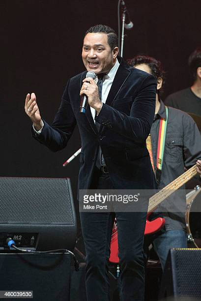 Singer Frank Reyes performs at Amor A Nuestra Musica 2014 at the Nassau Coliseum on December 5 2014 in Uniondale New York