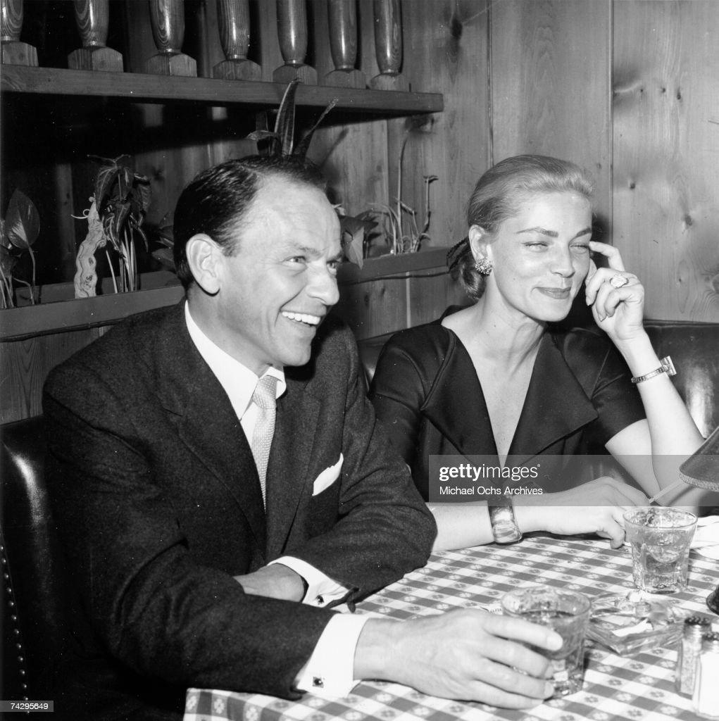 Sinatra & Bacall At 'Pal Joey' Party : News Photo