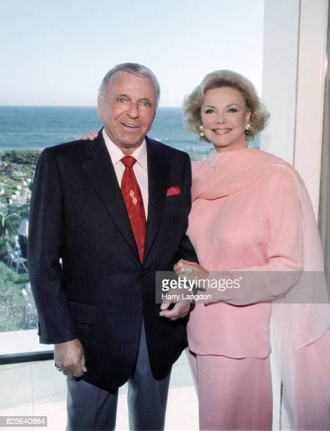 Singer Frank Sinatra and Barbara Sinatra pose for a portrait in 1997 in Los Angeles California
