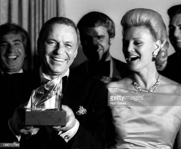 Singer Frank Sinatra and wife Barbara Sinatra attend Frank, His Friends and His Food Valentine Love-In on February 15, 1980 at the Canyon Hotel in...