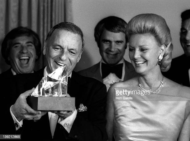 Singer Frank Sinatra and wife Barbara Sinatra attend Frank His Friends and His Food Valentine LoveIn on February 15 1980 at the Canyon Hotel in Palm...