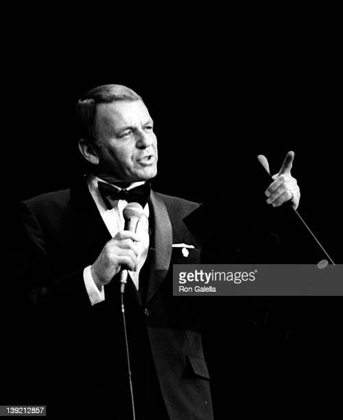 Singer Frank Sinatra attends Italian American Civil Rights League Benefit Concert on November 20 1970 at Madison Square Garden in New York City