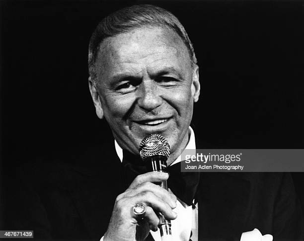 Singer Frank Sinatra performs at The Universal Amphitheatre on July 6 1980 in Universal City Los Angeles California