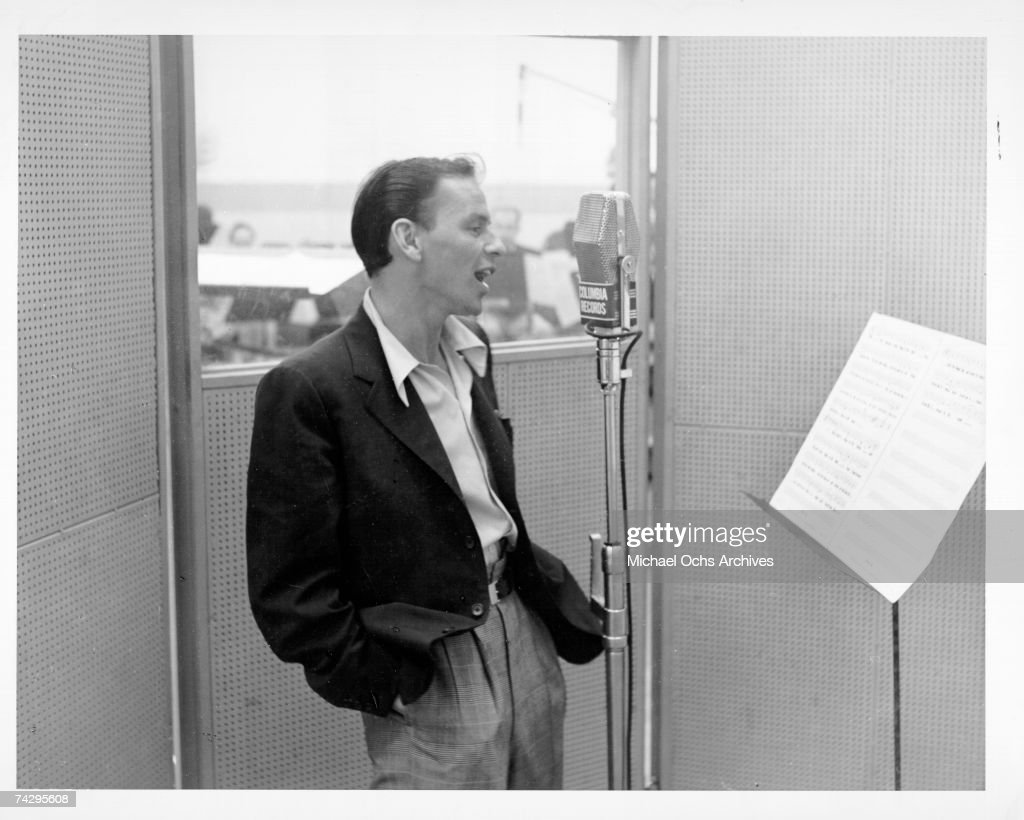 Sinatra Recording For Columbia Records : News Photo