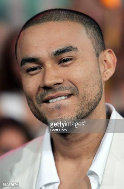 Singer Frankie J appears onstage during MTV's Total Request Live at the MTV Times Square Studios July 19 2005 in New York City