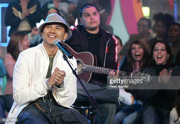 Singer Frankie J makes an appearance on MTV's Total Request Live March 23 2005 in New York City