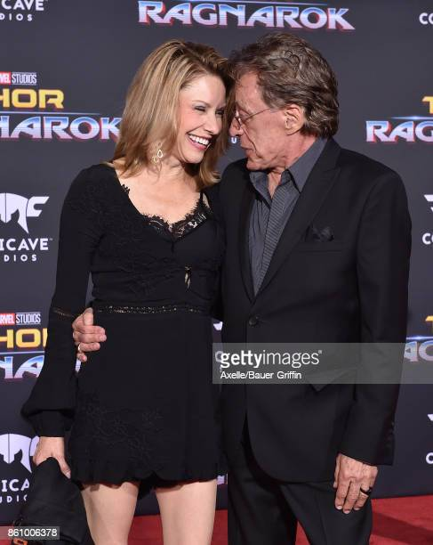Singer Frankie Valli and guest arrive at the premiere of Disney and Marvel's 'Thor Ragnarok' at the El Capitan Theatre on October 10 2017 in Los...