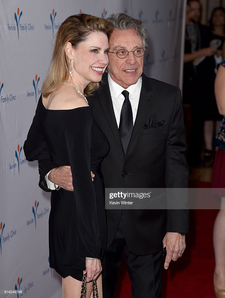 Singer Frankie Valli (R) and guest attend the Venice Family Clinic Silver Circle Gala 2016 honoring Brett Ratner and Bill Flumenbaum at The Beverly Hilton Hotel on March 7, 2016 in Beverly Hills, California.