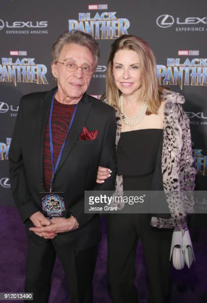 Singer Frankie Valli and Jackie Jacobs at the Los Angeles World Premiere of Marvel Studios' BLACK PANTHER at Dolby Theatre on January 29 2018 in...