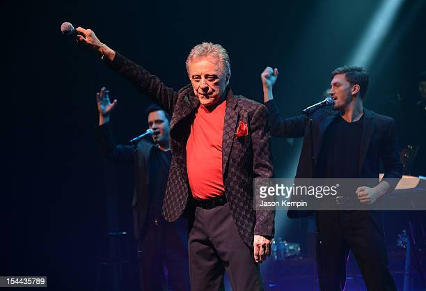 Singer Frankie Valli attends the Frankie Valli And The Four Seasons 50th Anniversary Celebration event at the Broadway Theatre on October 19, 2012 in...