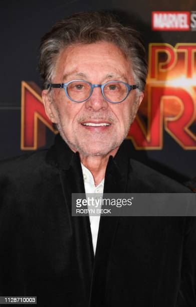 """Singer Frankie Valli attends the world premiere of """"Captain Marvel"""" in Hollywood, California, on March 4, 2019."""