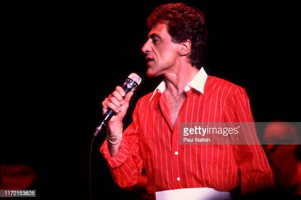 Singer Frankie Valli performs at the Park West in Chicago, Illinois, June 24, 1982.