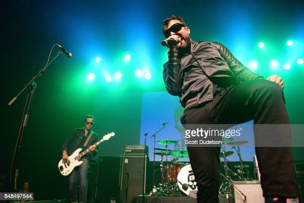 Singer Franky Perez of Apocalyptica and Kings of Chaos performs onstage during the second annual Rock for Recovery benefit concert at The Fonda...